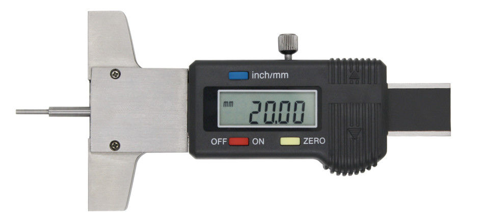 Digital Tyre Depth Gauge With Thin Rod Digit , Tire Tread Depth Gauge